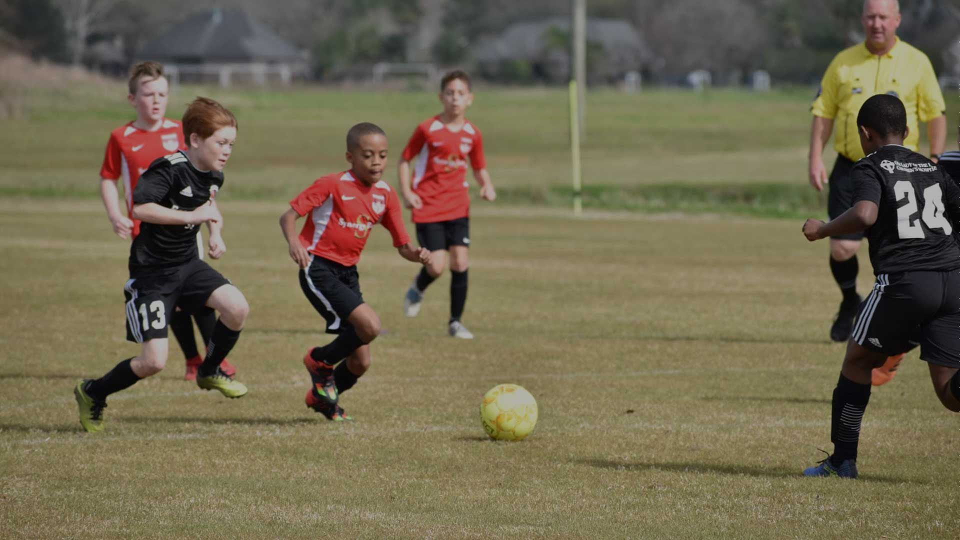 Photo of children playing soccer at the BCSP