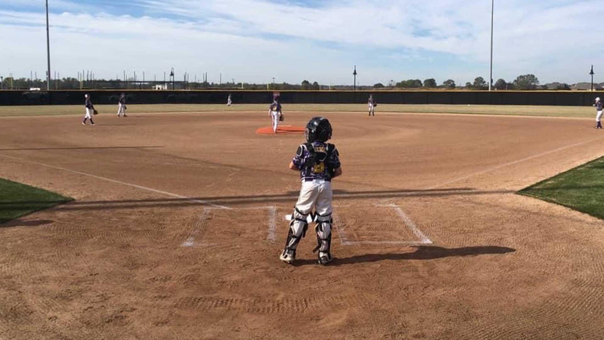 Photo of softball complex field configured for baseball.
